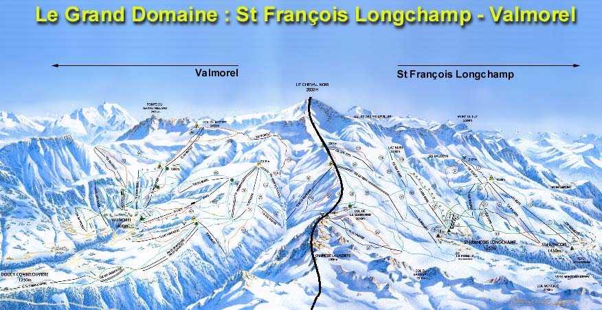 Plan des pistes valmorel et saint fran ois longchamp - Office du tourisme st francois longchamp ...